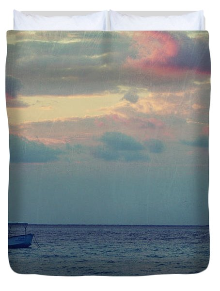 Come With Me My Love Duvet Cover by Laurie Search