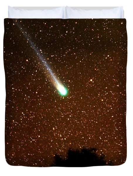 Comet Hyakutake Duvet Cover by Rick Frost