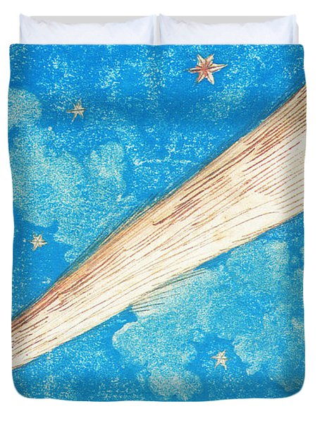Comet Duvet Cover by Science Source
