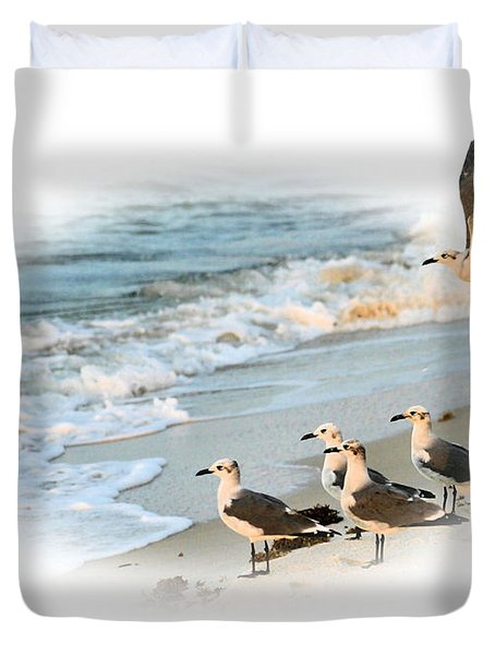 Coming In For A Landing Duvet Cover by Kristin Elmquist