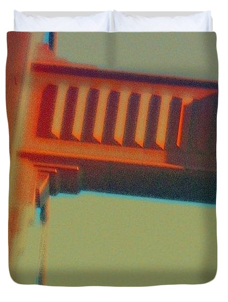 Duvet Cover featuring the digital art Coming In by Richard Laeton