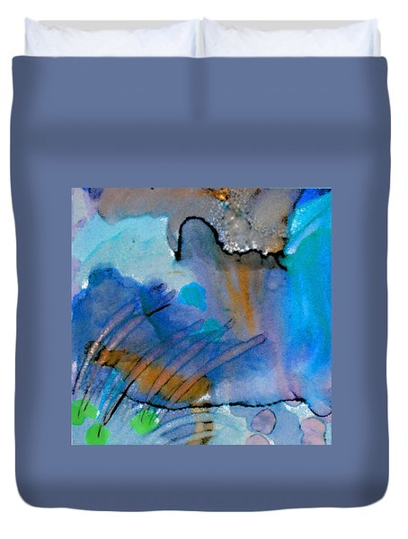 Coming Into Being II Duvet Cover