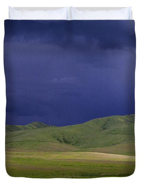Coming Of The Storm Duvet Cover