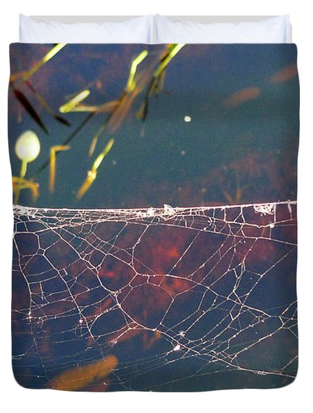 Duvet Cover featuring the photograph Complexity Of The Web by Nina Prommer