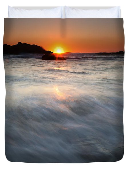 Concealed By The Tides Duvet Cover by Mike  Dawson
