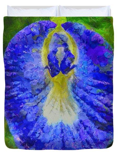 Conch Flower Duvet Cover