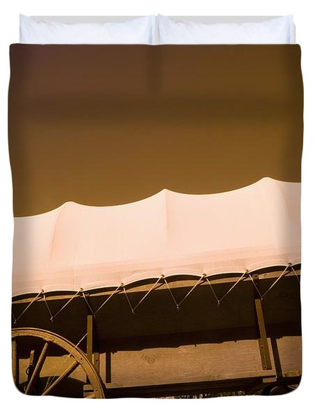 Conestoga Wagon Duvet Cover by Darren Greenwood