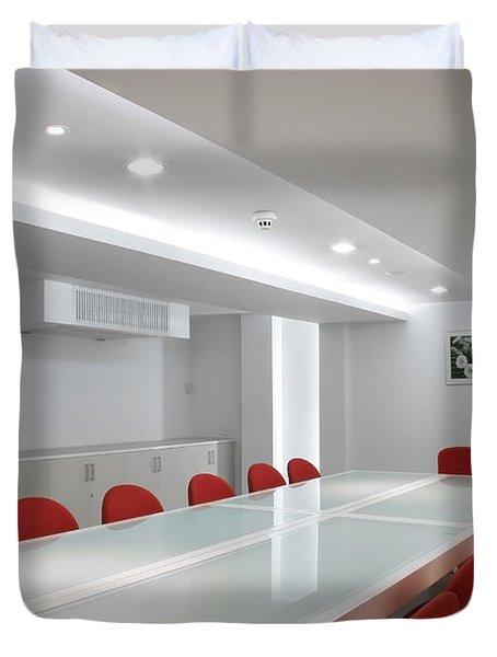 Conference Room Interior Duvet Cover by Setsiri Silapasuwanchai