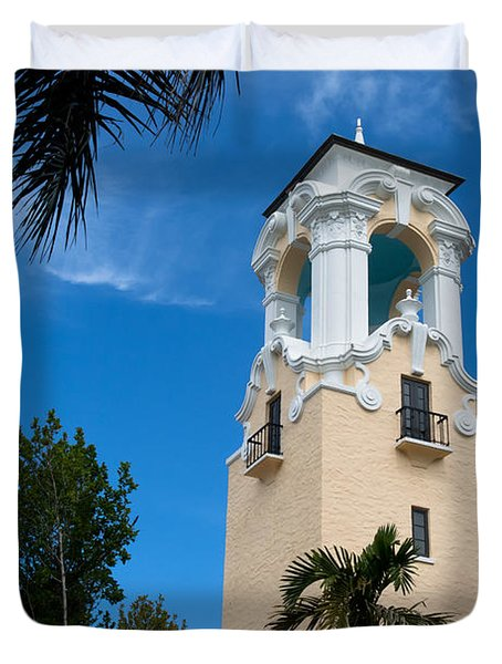Duvet Cover featuring the photograph Congregational Church Of Coral Gables by Ed Gleichman