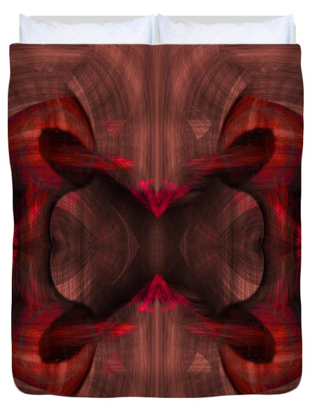 Conjoint - Ruby Duvet Cover by Christopher Gaston