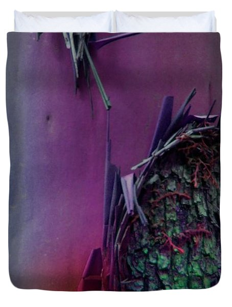 Duvet Cover featuring the digital art Connect by Richard Laeton