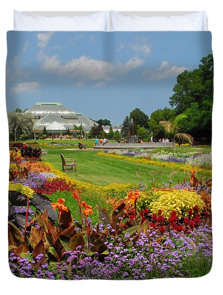 Duvet Cover featuring the photograph Conservatory Gardens by Lynn Bauer