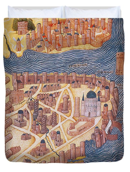 Constantinople, 1485 Duvet Cover by Photo Researchers