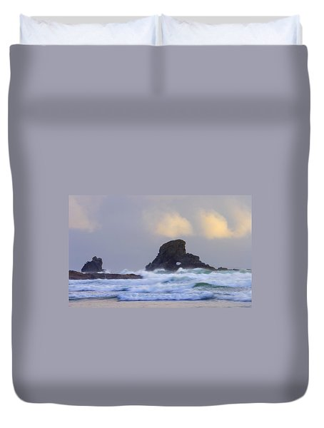 Consumed By The Sea Duvet Cover by Mike  Dawson