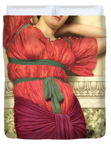 Contemplation Duvet Cover by John William Godward