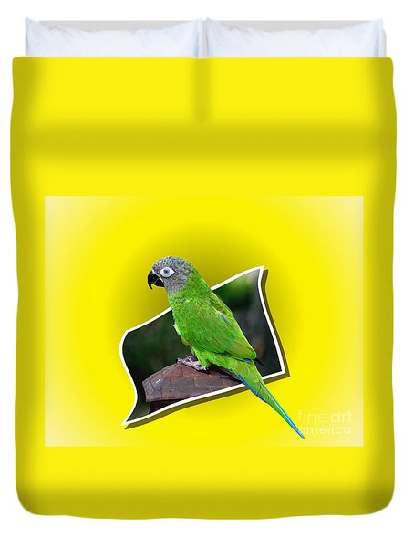 Conure Parrot Pop Out Duvet Cover by Smilin Eyes  Treasures