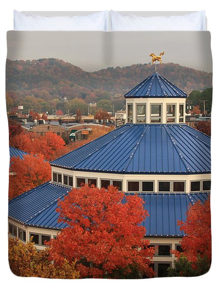 Coolidge Park Carousel Duvet Cover