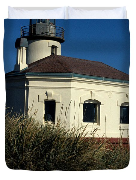 Duvet Cover featuring the photograph Coquille Light by Sharon Elliott