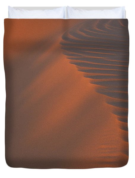 Coral Pink Ripples Duvet Cover