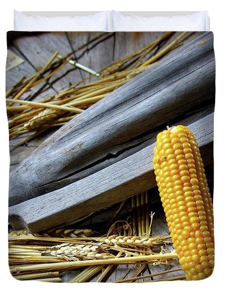 Corn Cob Duvet Cover by Carlos Caetano