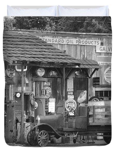 Corner Gas Station Duvet Cover