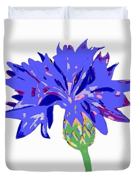 Cornflower Duvet Cover by Barbara Moignard