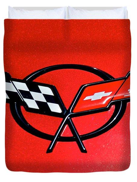 Corvette Logo Duvet Cover