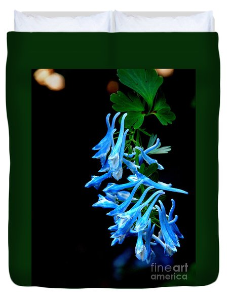 Duvet Cover featuring the photograph Corydalis  by Tanya  Searcy