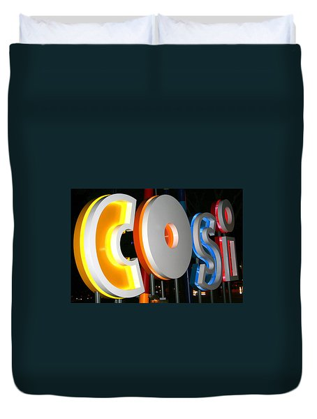 Cosi In Neon Lights Duvet Cover