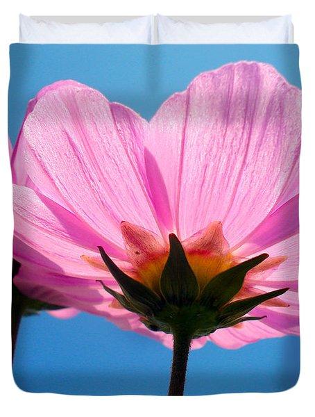 Cosmia Flowers Pair Duvet Cover by Sumit Mehndiratta