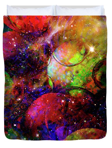 Cosmic Confusion Duvet Cover