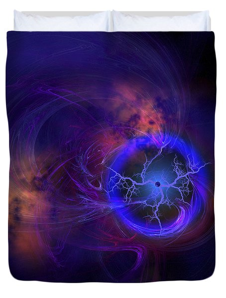 Cosmic Forces Out In Space Duvet Cover by Corey Ford