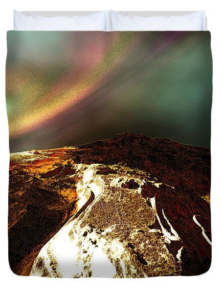Cosmic Landscape Of An Alien Planet Duvet Cover by Corey Ford