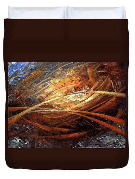 Cosmic Strings Duvet Cover by Arthur Braginsky