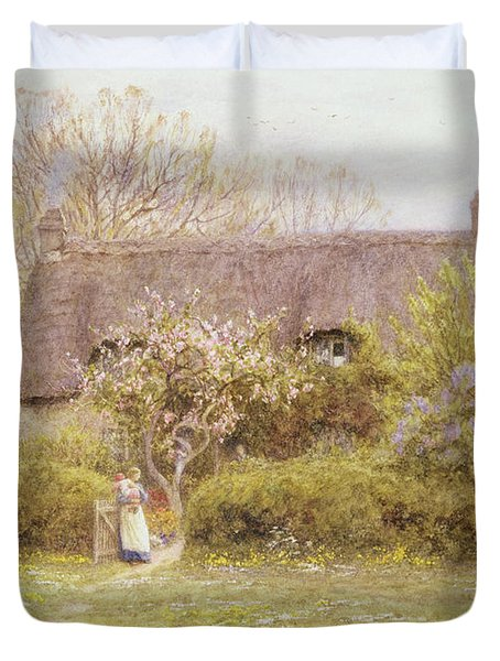 Cottage Freshwater Isle Of Wight Duvet Cover