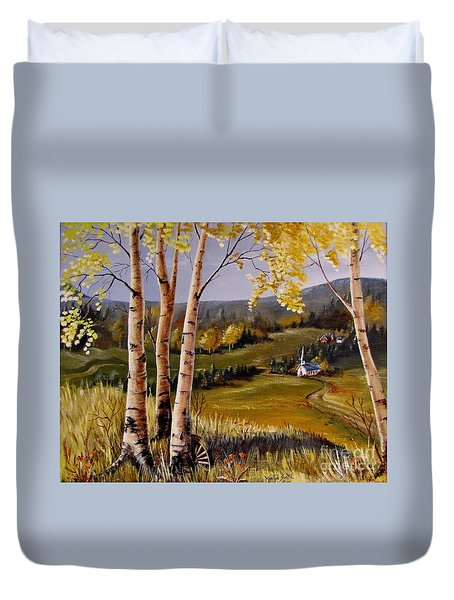 Country Church Duvet Cover by Marilyn Smith
