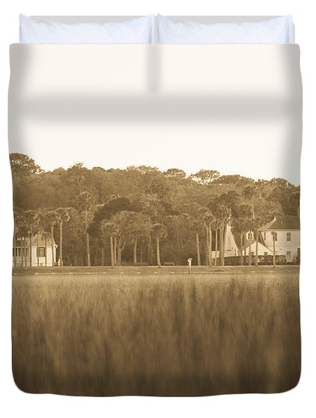 Duvet Cover featuring the photograph Country Estate by Shannon Harrington