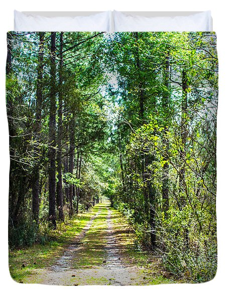Duvet Cover featuring the photograph Country Path by Shannon Harrington