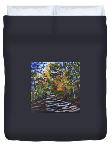 Country Road Duvet Cover by Jan Bennicoff