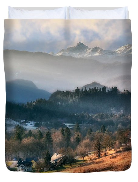 Countryside. Slovenia Duvet Cover