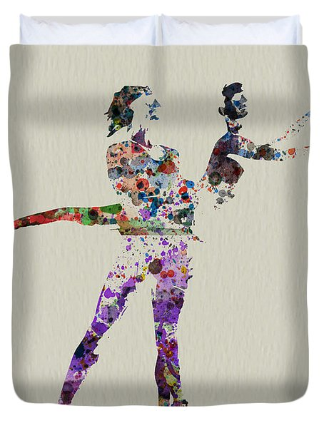 Couple Dancing Duvet Cover
