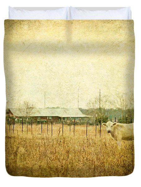 Cow Pasture Duvet Cover by Joan McCool