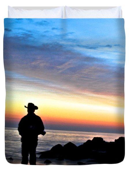 Cowboy Sunrise Duvet Cover