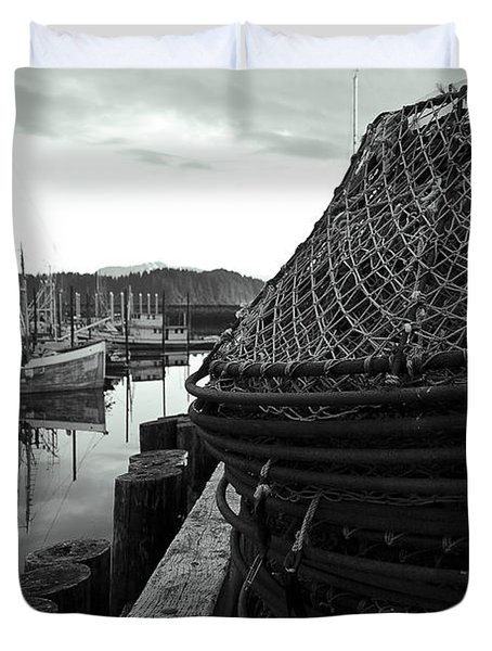 Crab Traps Duvet Cover by Darcy Michaelchuk
