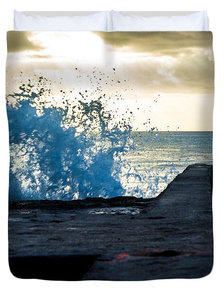 Crashing Blue Duvet Cover by Rene Triay Photography