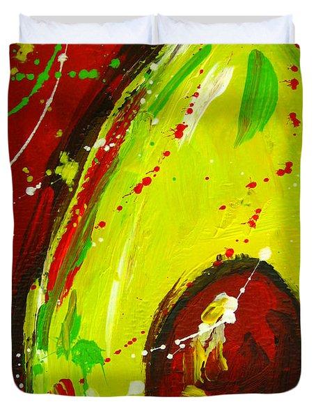 Crazy Avocado 3 - Modern Art Duvet Cover