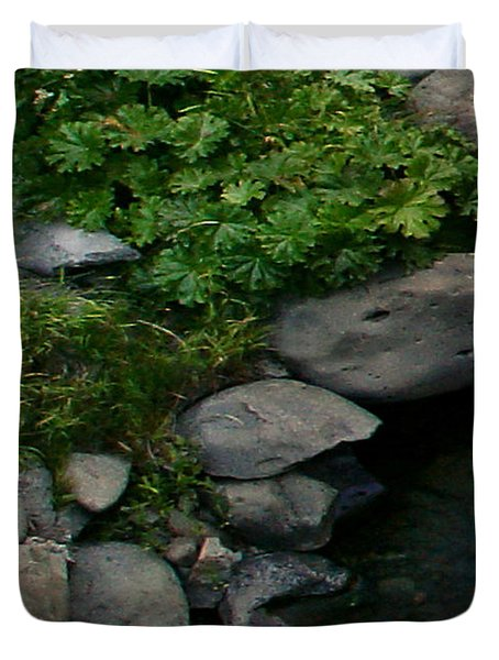 Creek Flow Panel 2 Duvet Cover by Peter Piatt