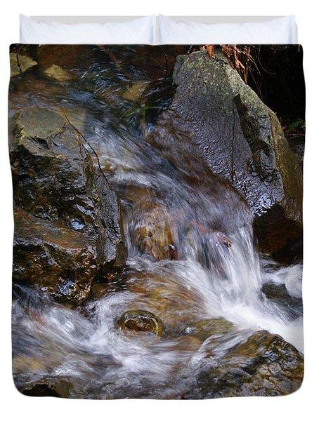 Creek Scene On Mt Tamalpais Duvet Cover