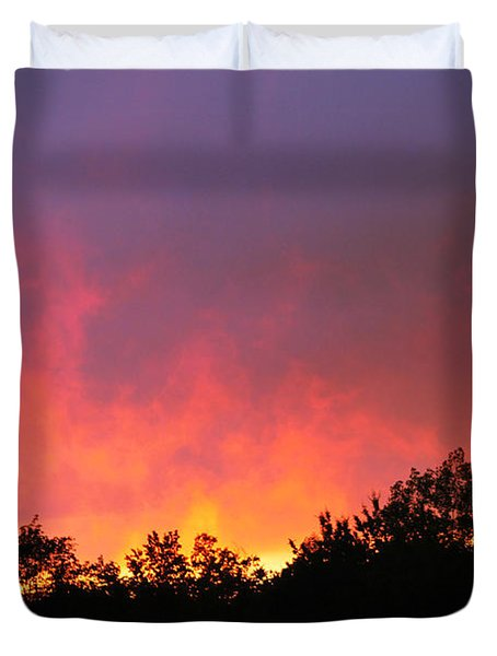 Duvet Cover featuring the photograph Crepuscule by Bruce Patrick Smith