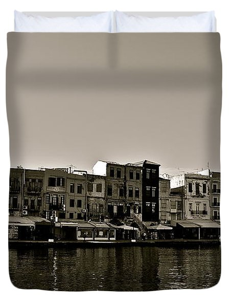 Duvet Cover featuring the photograph Crete Reflected by Eric Tressler